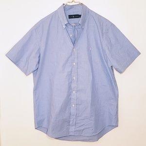 Ralph Lauren Blue Checkered Gingham Short Sleeve